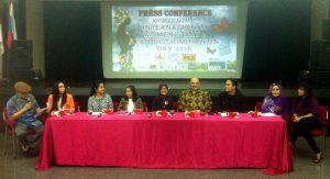 Pers conference menyambut International Women's Day Zero Discrimination Day 2016 di Jakarta, Kamis (18/2/16).