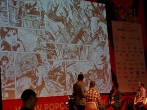 """Talkshow """"Membangun SDM Animasi di Indonesia"""" pada ajang Popcon 2016 di JCC, Jakarta, Sabtu (13/8/16). Foto. evi"""